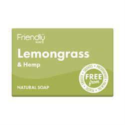 Friendly Natural Lemongrass & Hemp Soap Bar