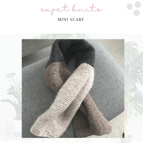 Sujet Knits Hand Knitted Mini Scarf - Only One Available