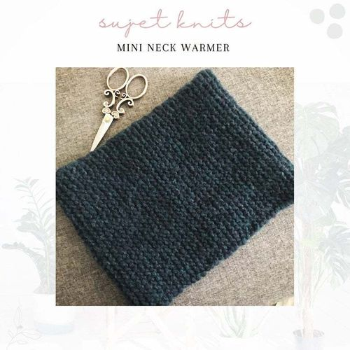 Sujet Knits Hand Knitted Neck Warmer - One Available