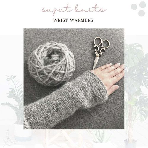 Sujet Knits Hand Knitted Hand Warmers - One Pair Available