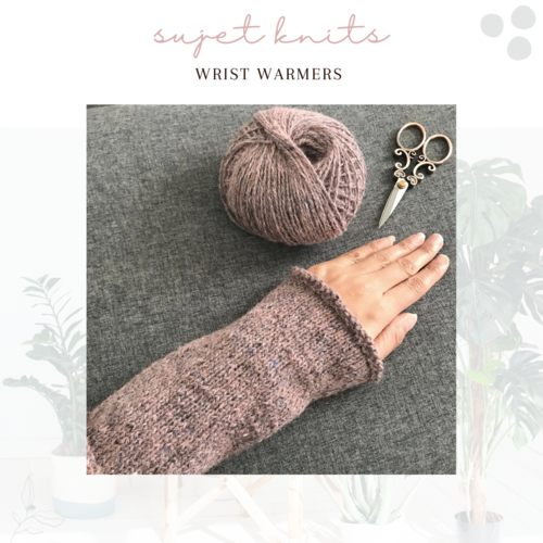 Sujet Knits Hand Knitted Wrist Warmers - Sample